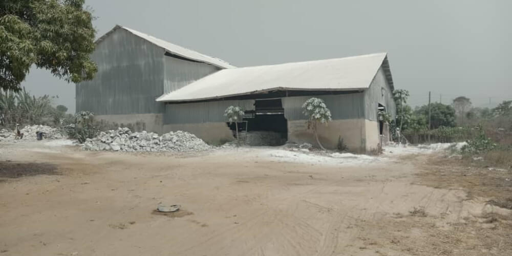 Limestone and Kaolin factory, Auchi, Edo, Nigeria.